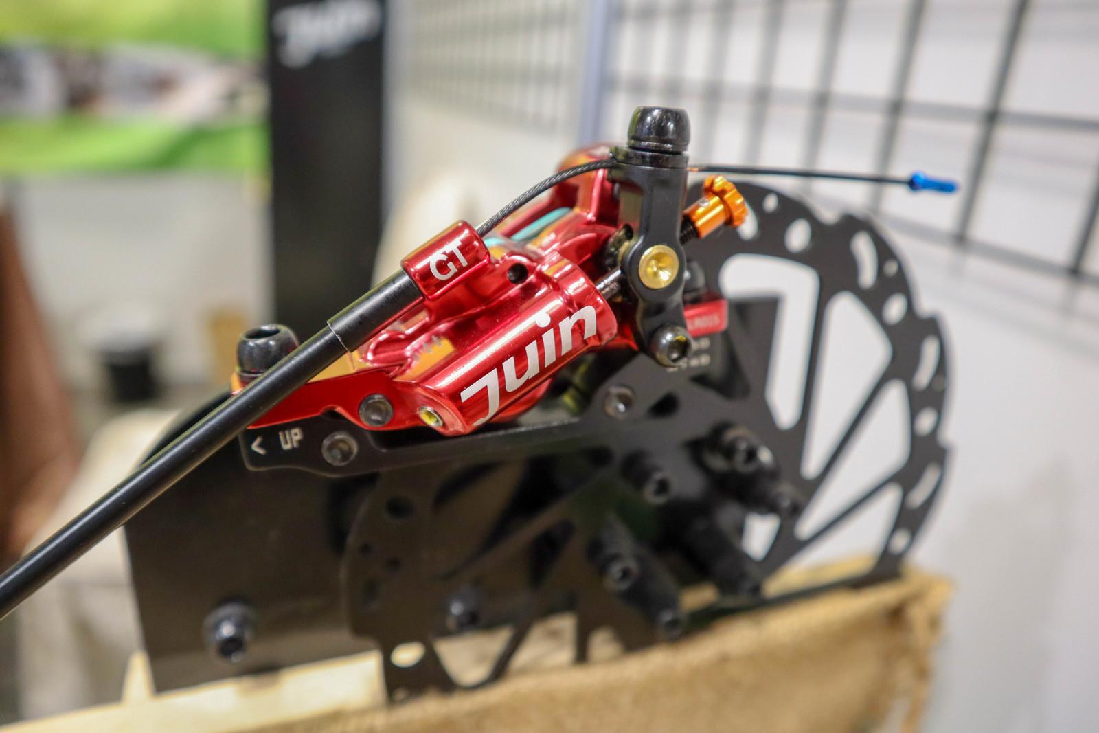 Juin Mechanically Actuated Hydraulic Disk Brake - Crazy Bike Tech from Taichung Bike Week - Mountain Biking Pictures - Vital MTB