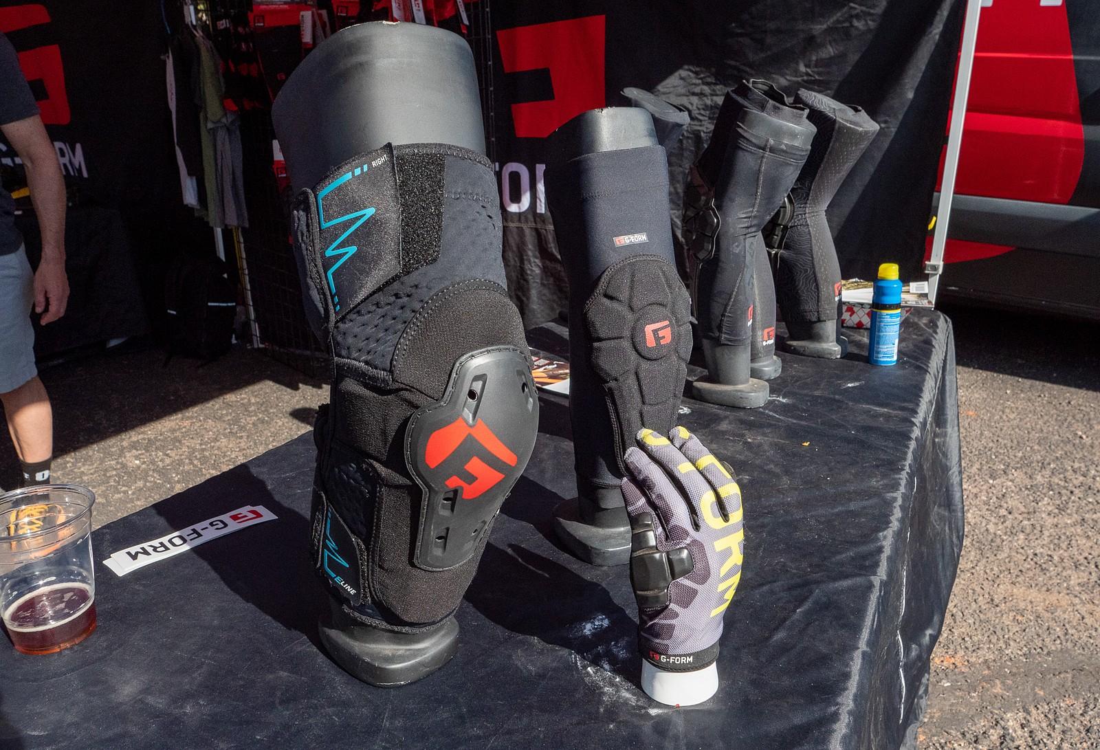 New G-Form E-Line Knee Pads and Gloves at Sedona Bike Fest - PIT BITS 2 - Sedona Bike Festival 2020 - Mountain Biking Pictures - Vital MTB