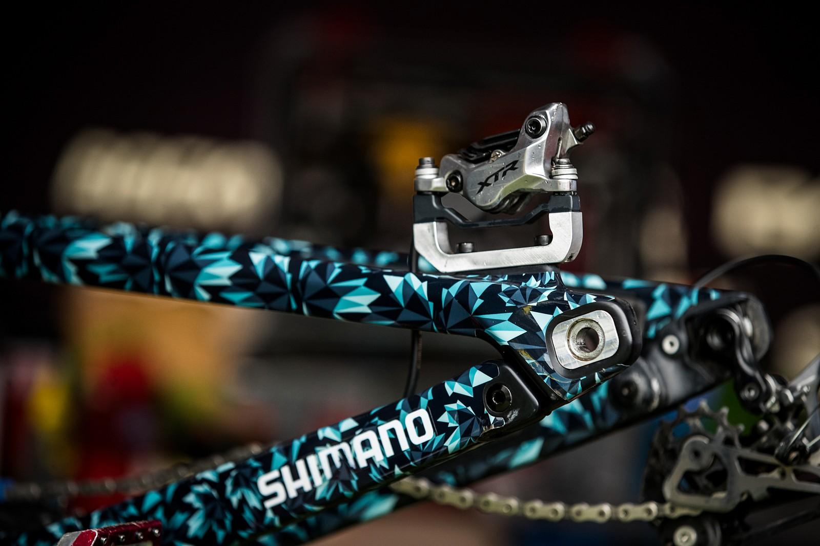 Big Rotors Need Big Adapters - PIT BITS - Enduro World Series, Zermatt - Mountain Biking Pictures - Vital MTB