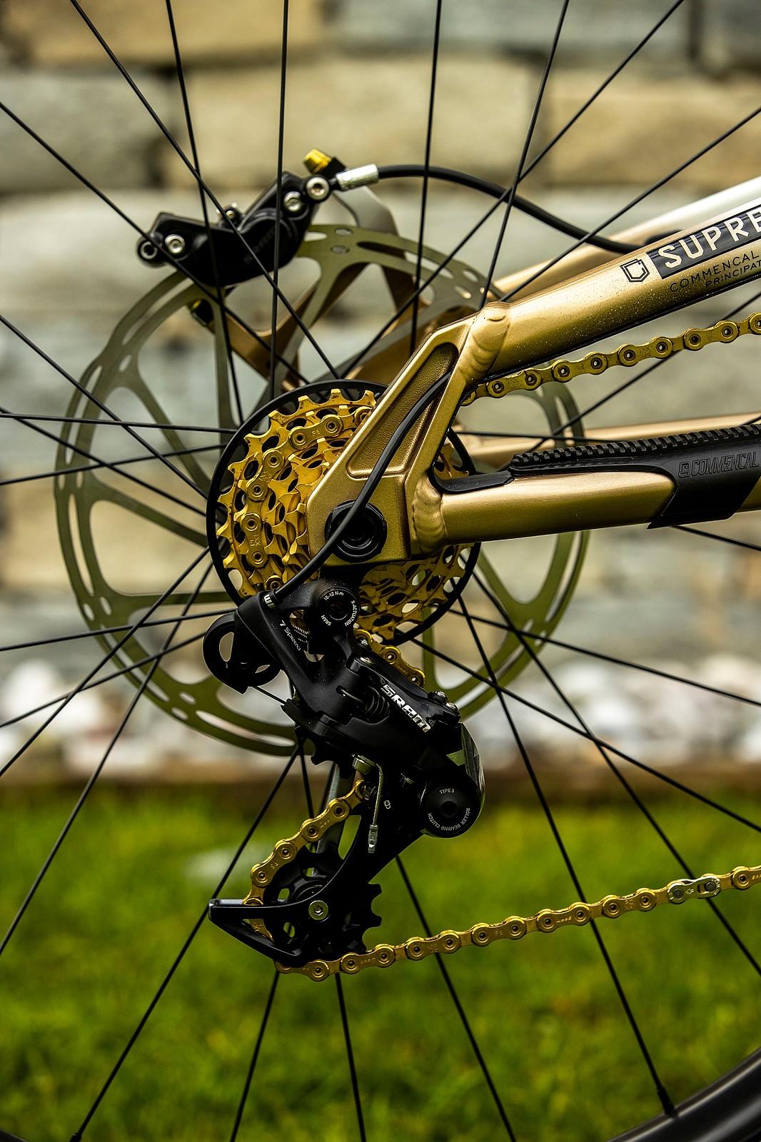 Blingtastic - WORLD CHAMPS BIKE - Myriam Nicole's Commencal Supreme - Mountain Biking Pictures - Vital MTB