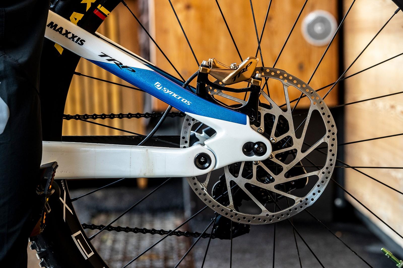 TRP DH-R EVO Brakes - WORLD CHAMPS BIKE - Marine Cabirou's Scott Gambler - Mountain Biking Pictures - Vital MTB
