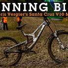 WINNING BIKE: Loris Vergier's Santa Cruz V10 with Prototype Shimano Derailleur