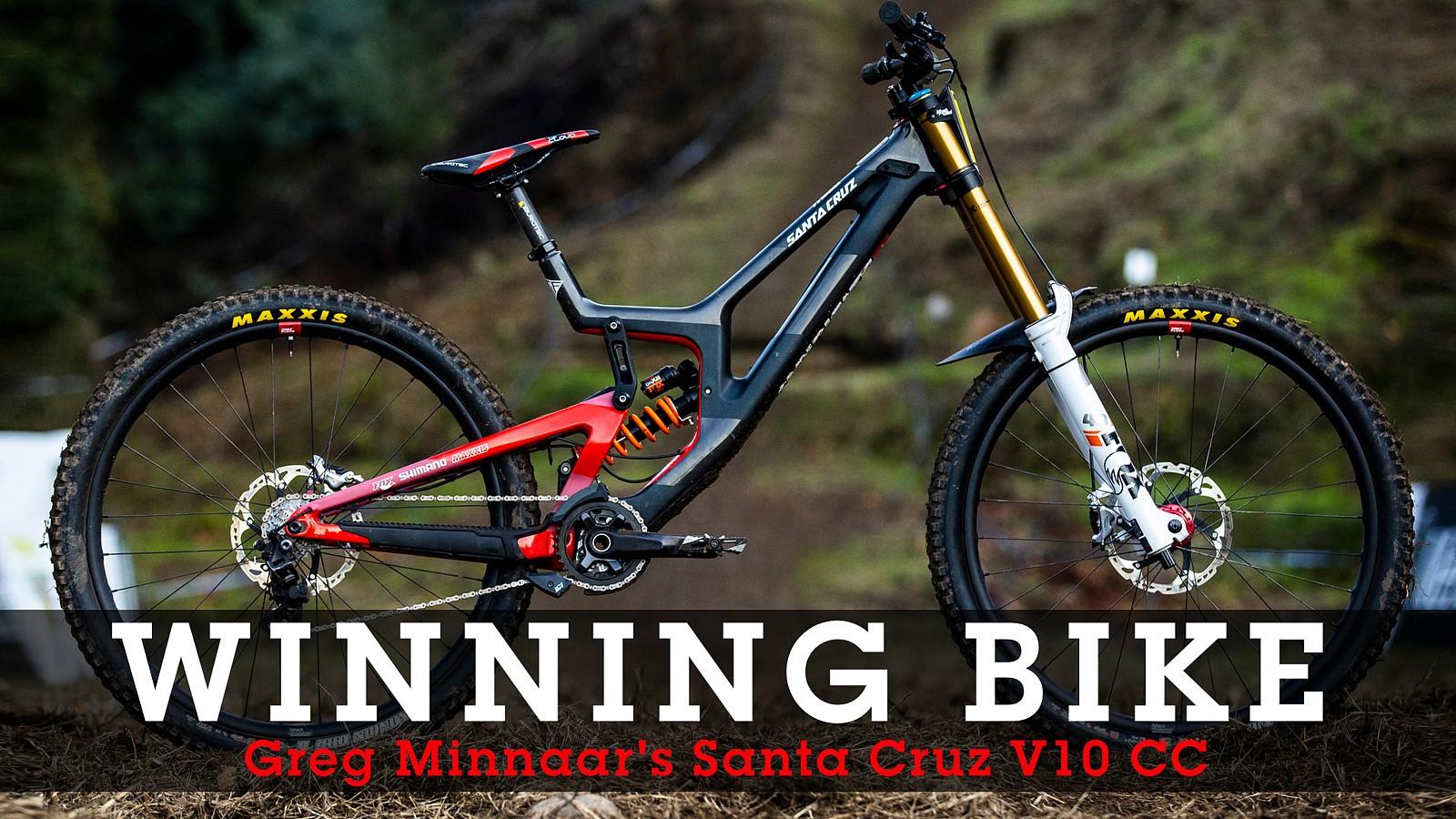 WINNING BIKE: Greg Minnaar's Santa Cruz V10 - WINNING BIKE: Greg Minnaar's Santa Cruz V10 - Mountain Biking Pictures - Vital MTB