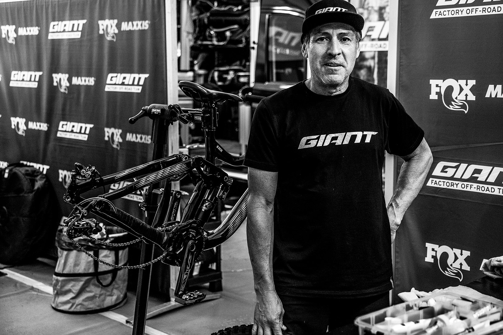 Ed Looking on Point - PIT BITS - Leogang World Cup Downhill 2021 - Mountain Biking Pictures - Vital MTB