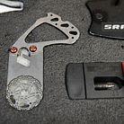 Kevin's brake bleeding rotor piece (Cube).