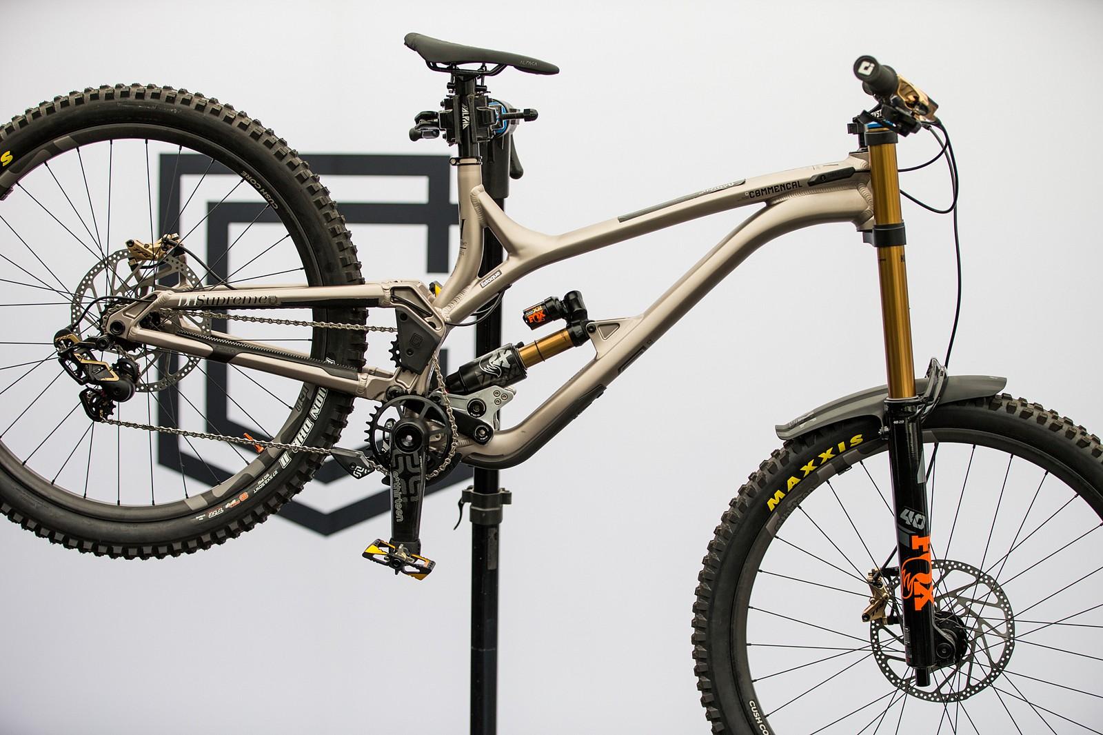Commencal 100% race bike - PIT BITS - Les Gets World Cup Downhill 2021 - Mountain Biking Pictures - Vital MTB