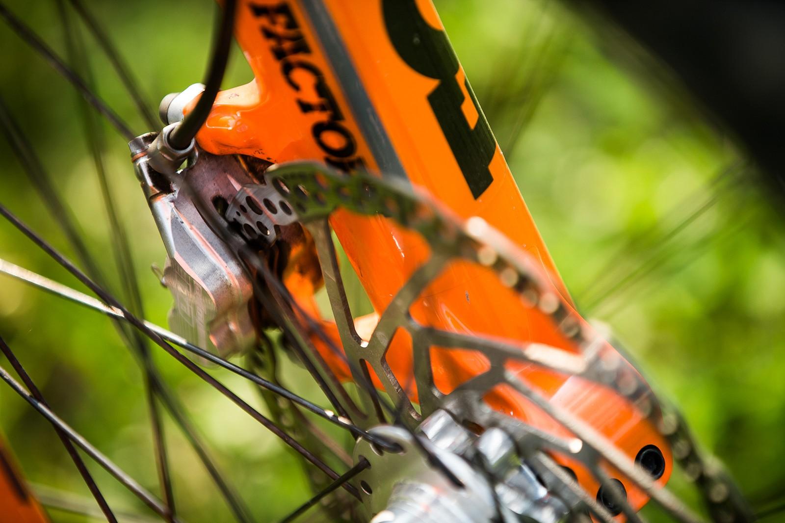 That Hope Goodness - Adam Brayton's Nukeproof Dissent with Prototype Hope Brakes - Mountain Biking Pictures - Vital MTB