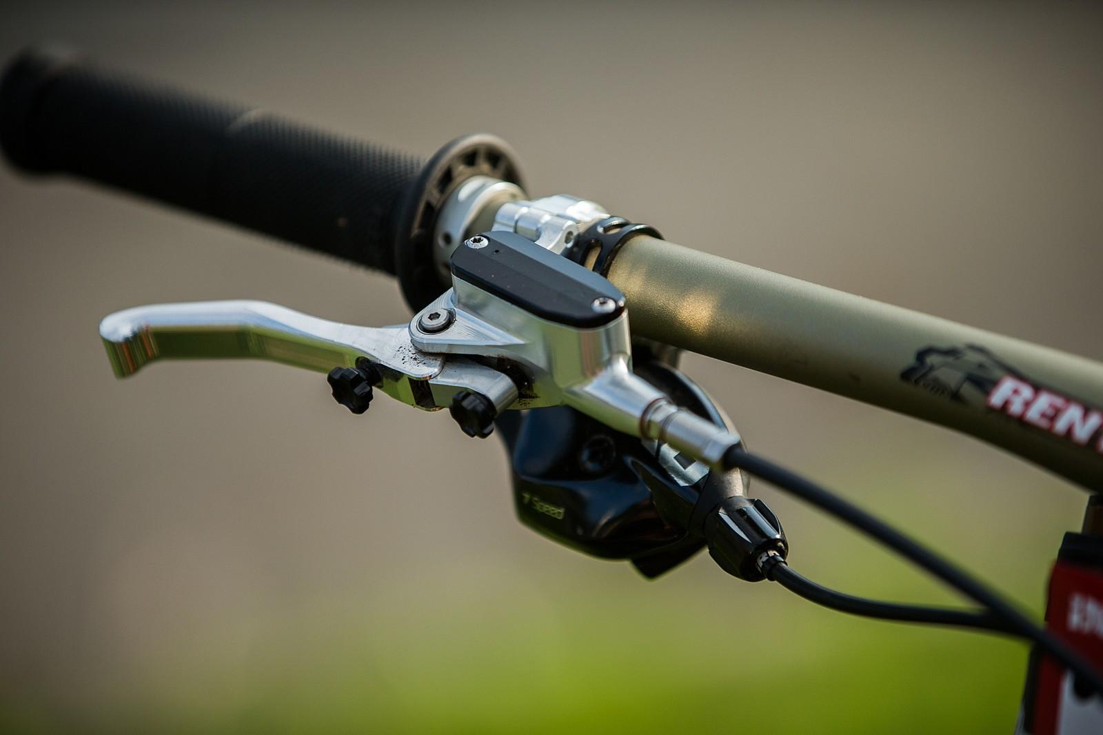 Prototype Hope V4 Brake Levers - Adam Brayton's Nukeproof Dissent with Prototype Hope Brakes - Mountain Biking Pictures - Vital MTB