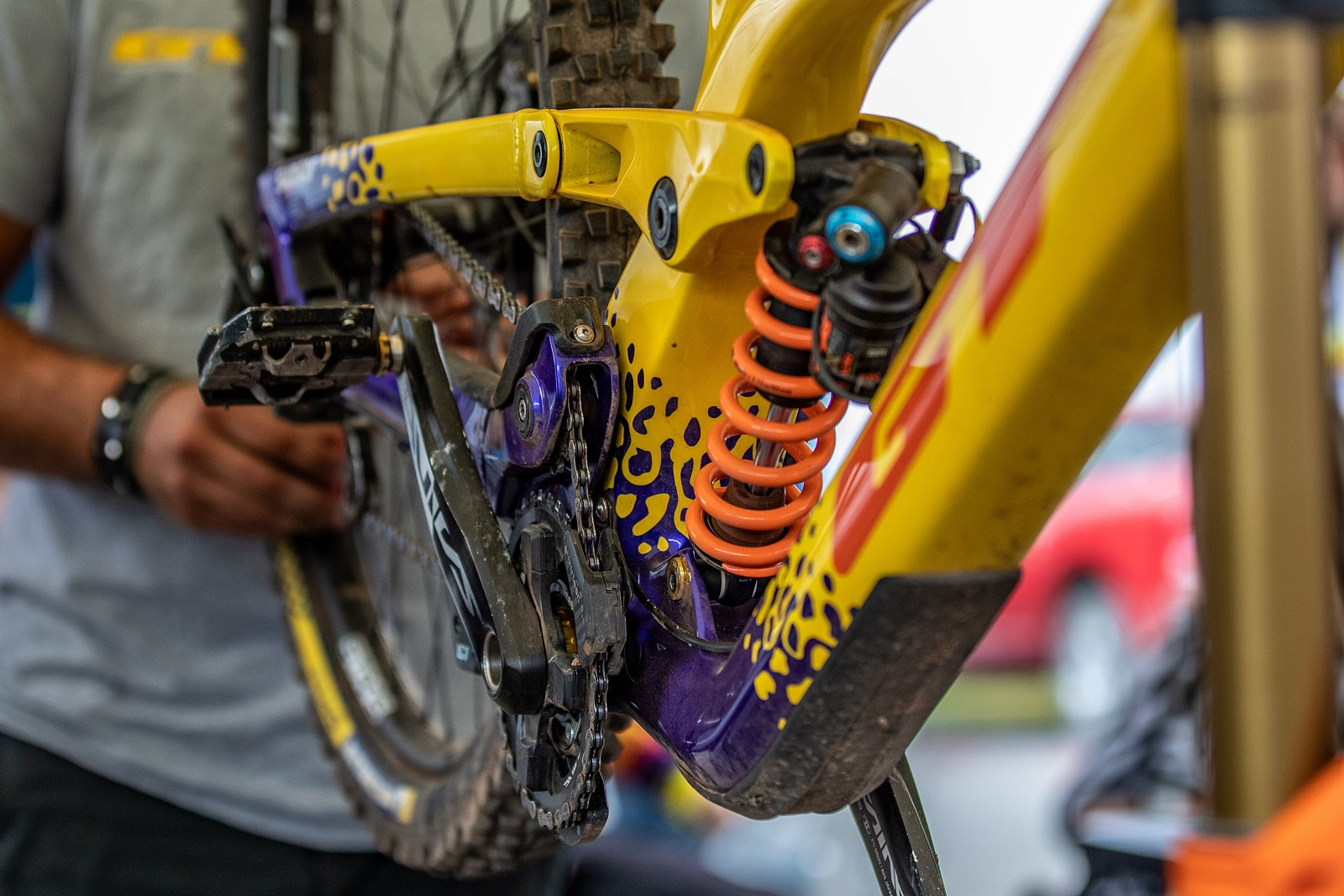 Ethan Craik's GT Fury - PIT BITS 2 - Snowshoe World Cup Downhill - Mountain Biking Pictures - Vital MTB