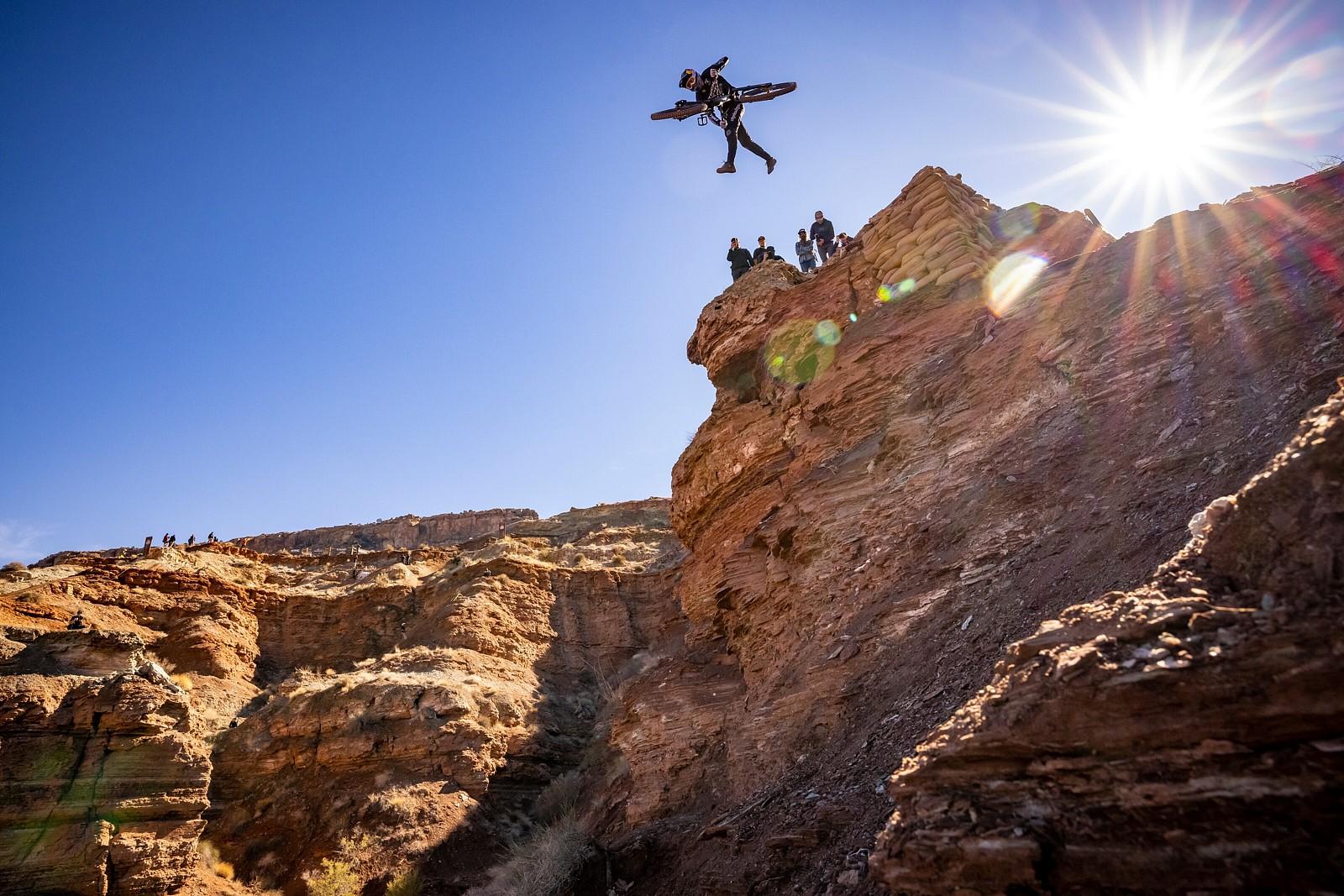 Brandon Semenuk Tailwhip Drop - 2021 Red Bull Rampage Photos - Mountain Biking Pictures - Vital MTB