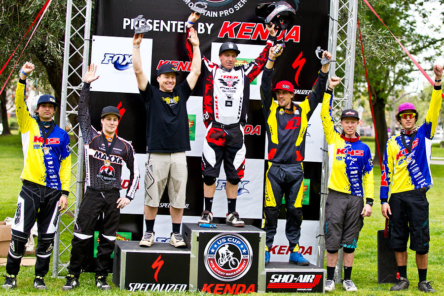 Men's Pro Podium at Fontana Nationals - Fontana Nationals - Mountain Biking Pictures - Vital MTB