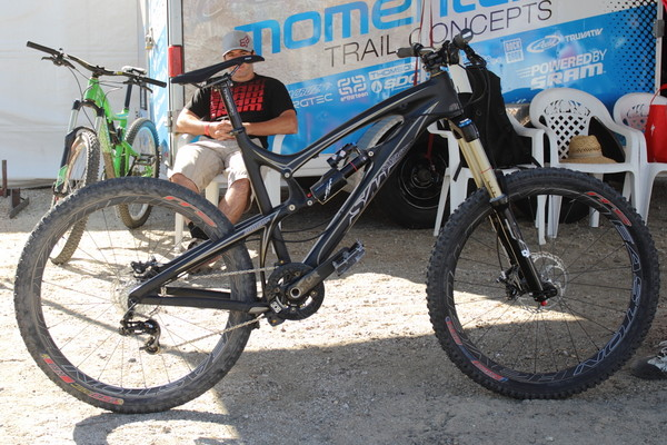 The Easton Haven Carbons on Matt's cNomad, the set up he used to race downhill at Sea Otter.