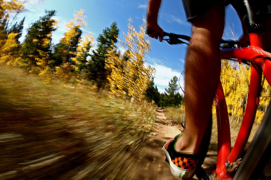 Colorado Singletrack and Aspens - Onboard Singletrack Shots - Mountain Biking Pictures - Vital MTB