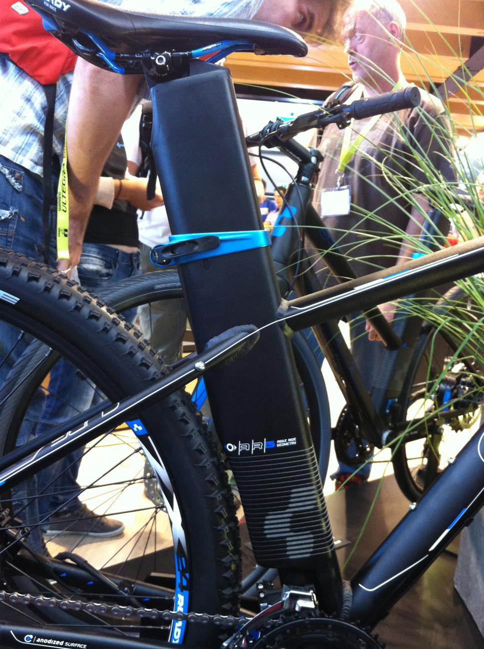 Cube EPO battery area - Eurobike 2011 - Mountain Biking Pictures - Vital MTB