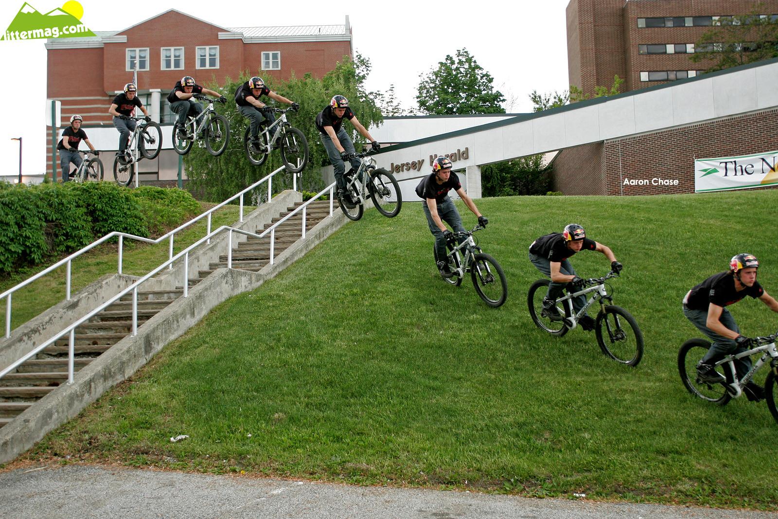 Aaron Chase, Rail Hop - Freeride Wallpapers - Mountain Biking Pictures - Vital MTB