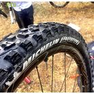 Prototype Michelin Tire on Nico Vouilloz's Trail Bike