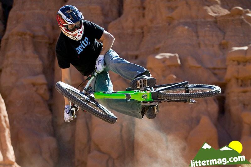 Lars Tribus flattened. - 10 Days in Utah - Mountain Biking Pictures - Vital MTB