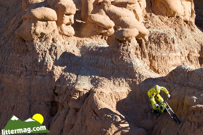 JD Swanguen threads between the goblins. - 10 Days in Utah - Mountain Biking Pictures - Vital MTB