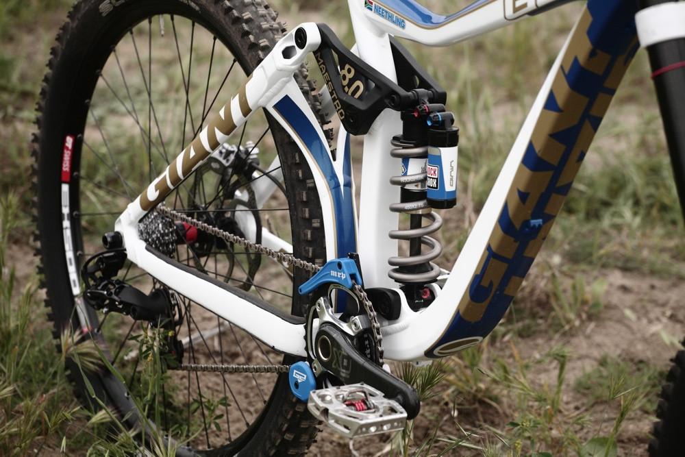 RockShox BlackBox Vivid Rear Shock - Andrew Neethling's 2012 Giant Glory and Reign Bikes - Mountain Biking Pictures - Vital MTB