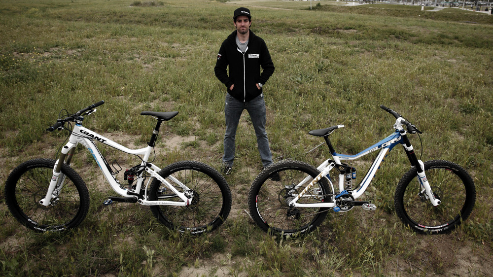 Andrew Neethling with his 2012 Giant Glory and Reign - Andrew Neethling's 2012 Giant Glory and Reign Bikes - Mountain Biking Pictures - Vital MTB