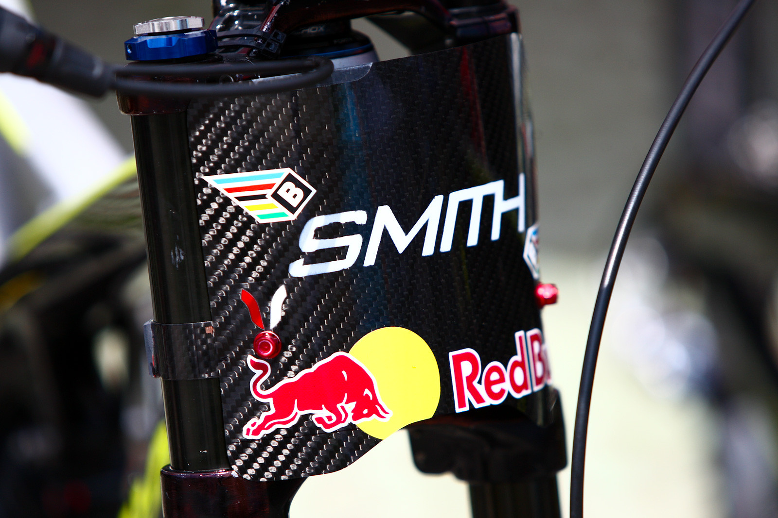 Steve Smith's Carbon Number Board at Val di Sole - 2012 UCI World Cup, Val di Sole Day 1 - Mountain Biking Pictures - Vital MTB