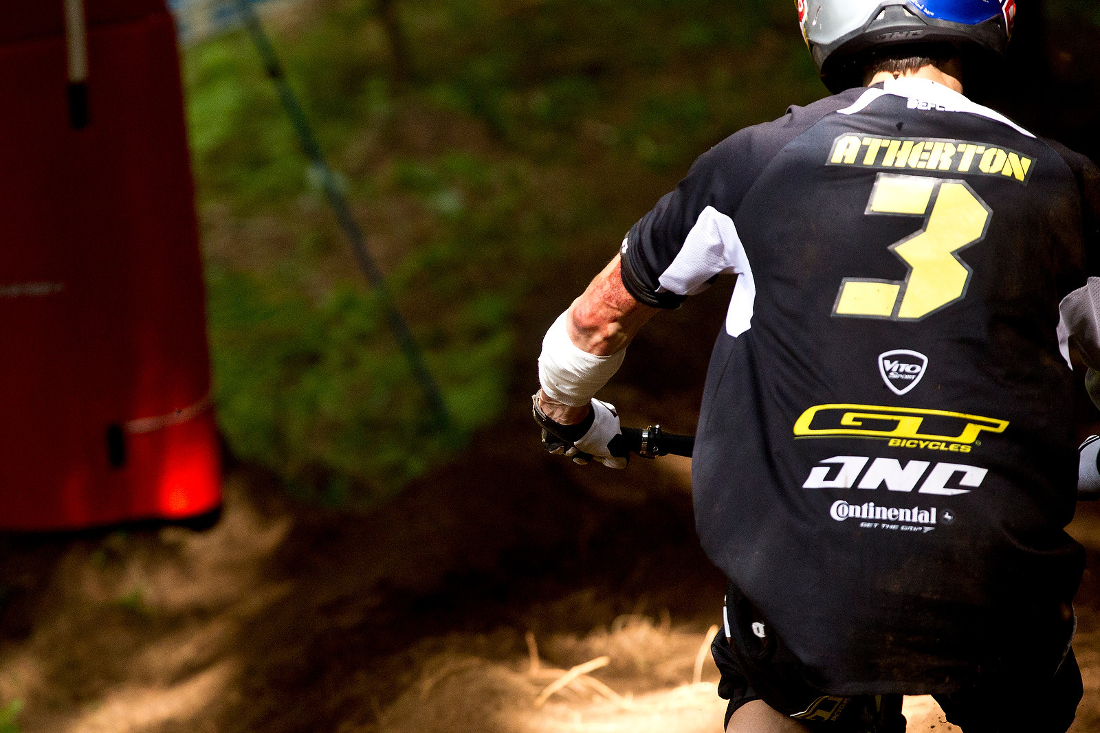 Gee Atherton, 3 Stitches at Val di Sole - 2012 UCI World Cup, Val di Sole Day 2 - Mountain Biking Pictures - Vital MTB