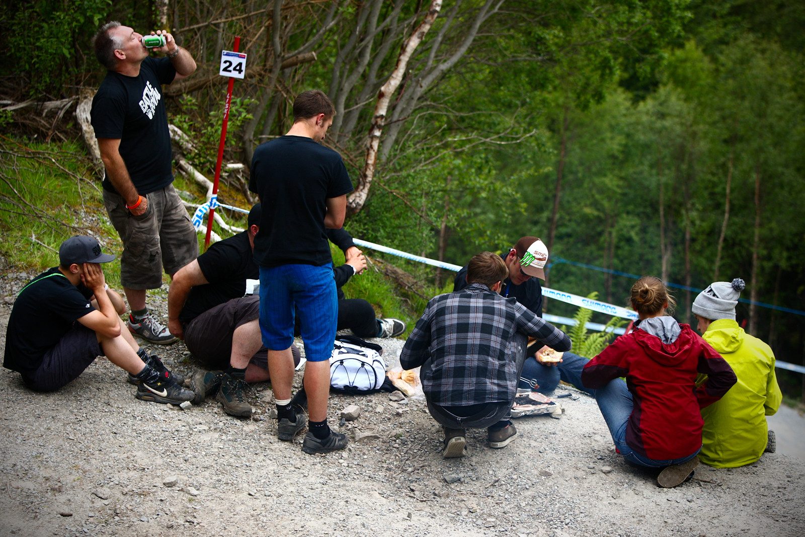 Track Walk BBQ with Steve Peat - 2012 UCI World Cup, Fort WIlliam Scotland, Day 1 - Mountain Biking Pictures - Vital MTB