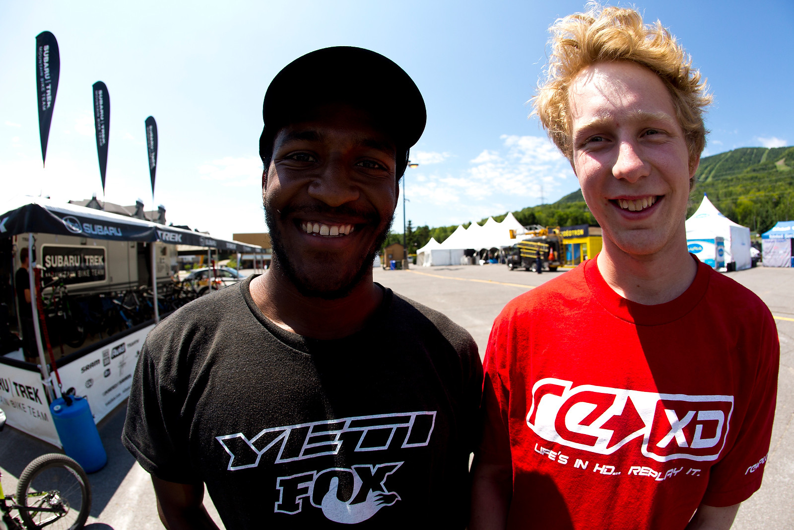 Eliot Jackson and Bernard Kerr at MSA - 2012 UCI World Cup, Mont Sainte Anne, Day 1 - Mountain Biking Pictures - Vital MTB