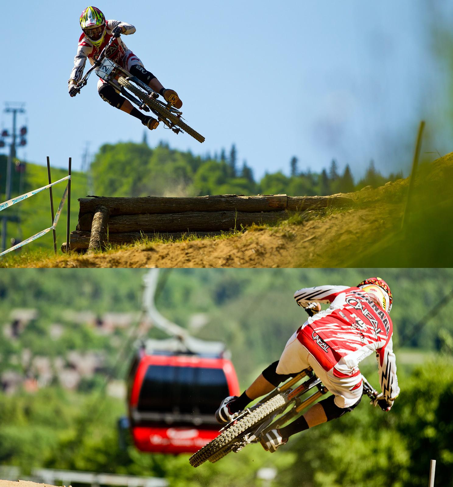 Greg Minnaar Perfect Form at Mont Sainte Anne - 2012 UCI World Cup, Mont Sainte Anne, Day 2 - Mountain Biking Pictures - Vital MTB