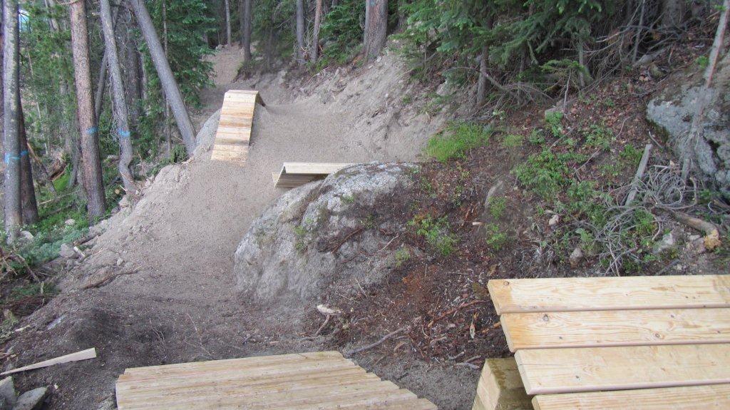 Gap Options on Bootleg Trail at Trestle - Trestle Bike Park Boot Camp Trail Updates - Mountain Biking Pictures - Vital MTB