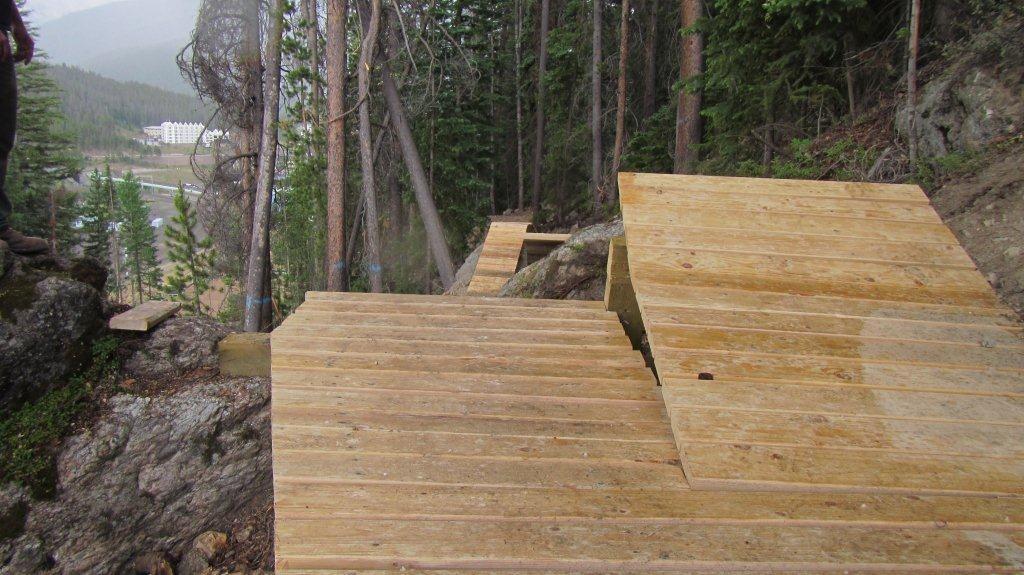 New Wood Jumps on Bootcamp at Trestle Bike Park - Trestle Bike Park Boot Camp Trail Updates - Mountain Biking Pictures - Vital MTB