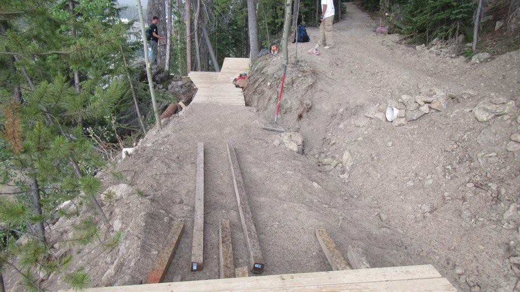 Entry into the new jump on Bootcamp at Trestle Bike Park - Trestle Bike Park Boot Camp Trail Updates - Mountain Biking Pictures - Vital MTB