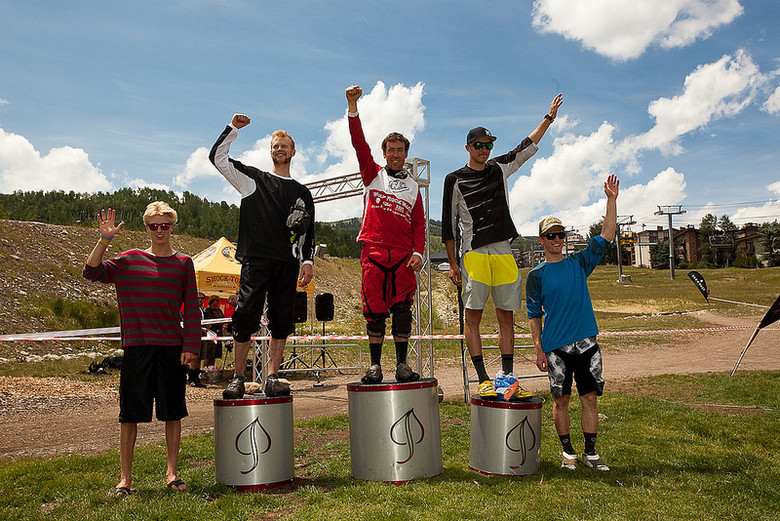 2012 Master of the Mass Enduro Pro Men's Podium
