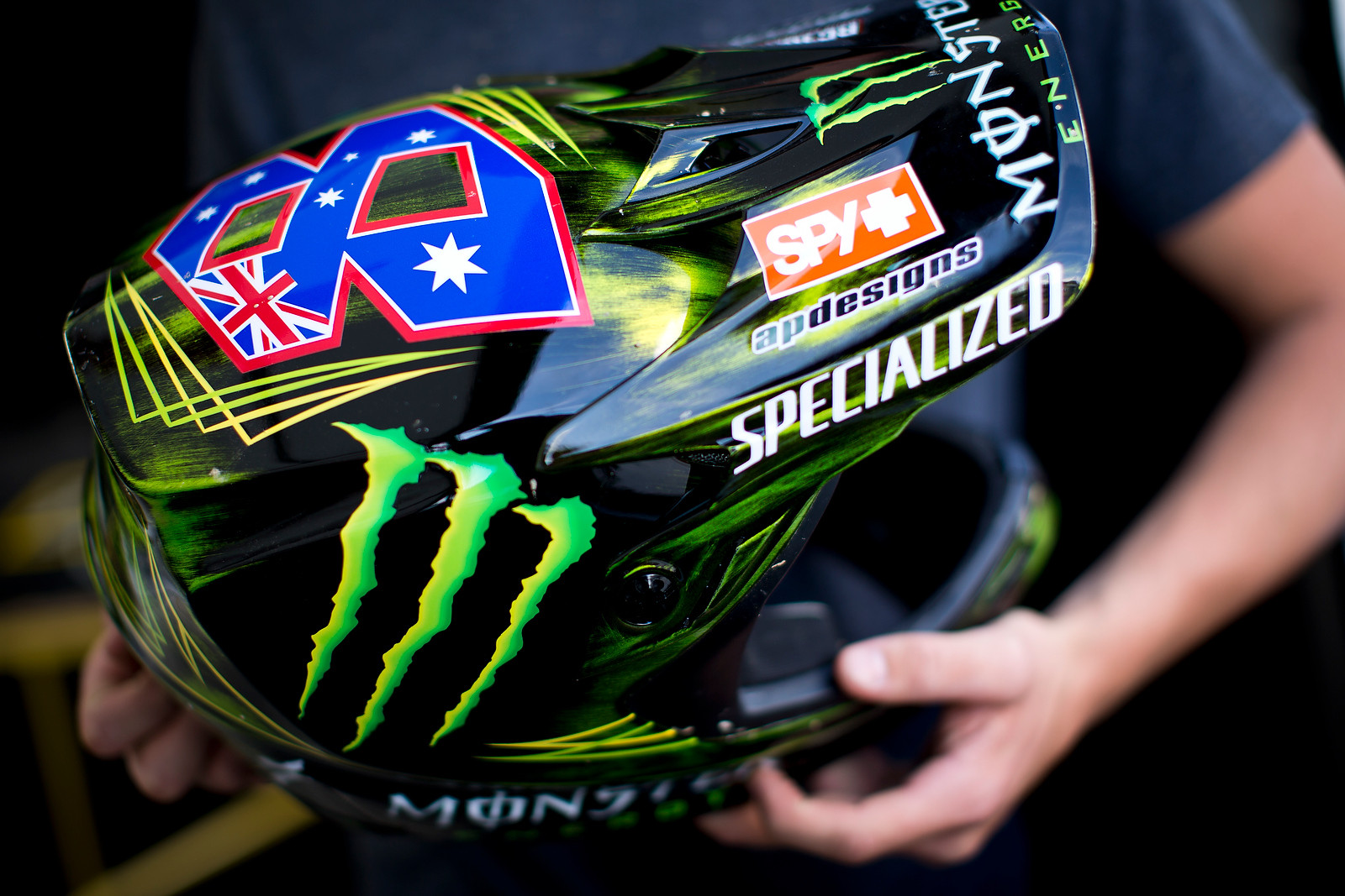 Troy Brosnan's World Champs Helmet - New Kits and Gear for 2012 World Championships - Mountain Biking Pictures - Vital MTB