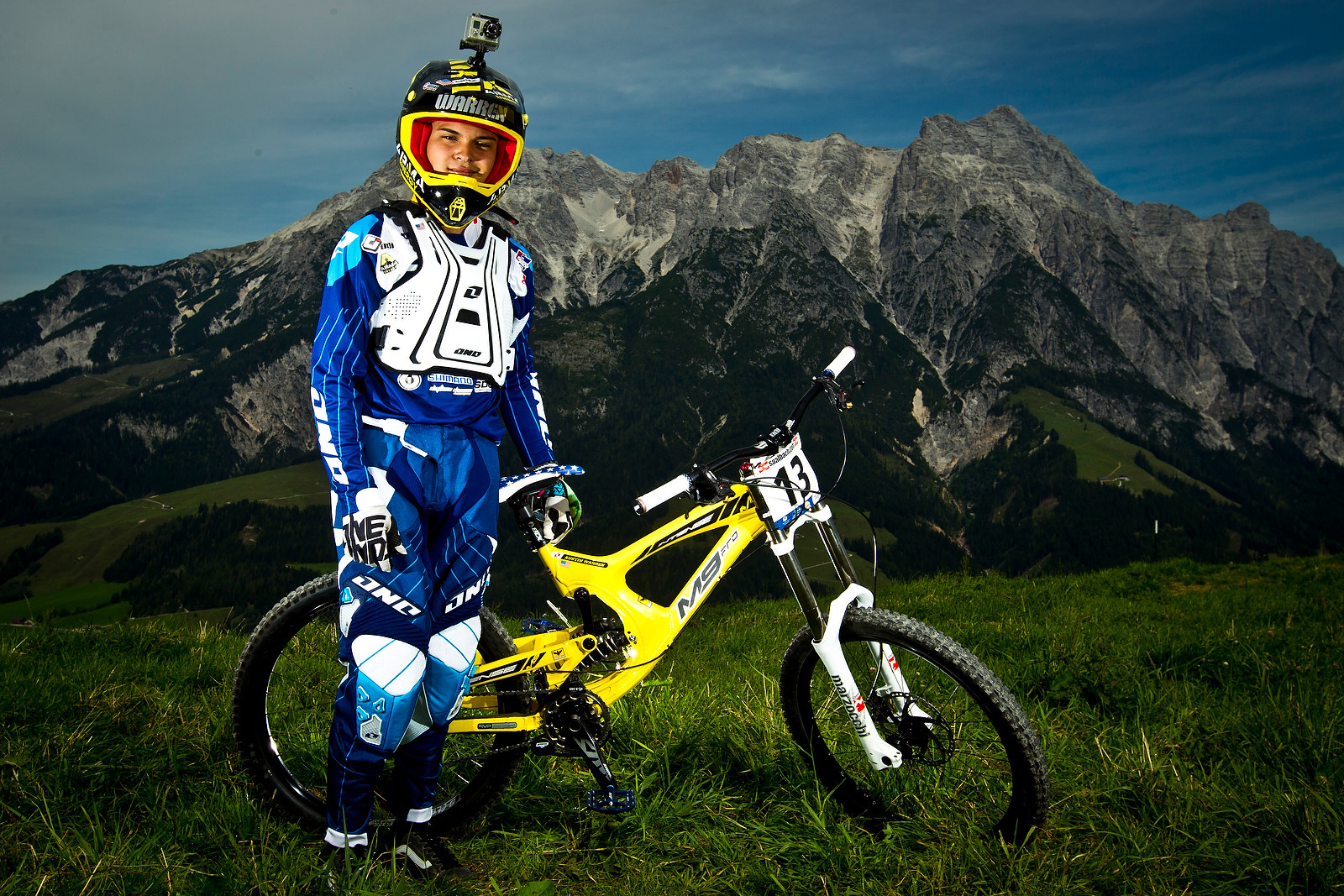 Austin Warren with his Intense M9 - World Championships Riders and Bikes - Mountain Biking Pictures - Vital MTB