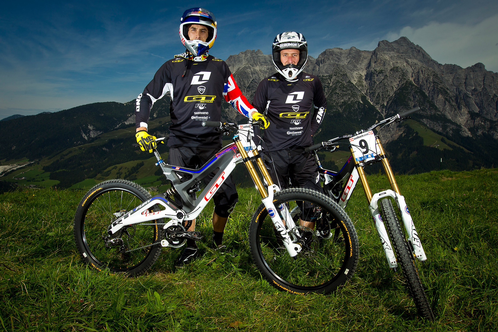 Gee Atherton and Marc Beaumont with their GT Fury DH Bikes - World Championships Riders and Bikes - Mountain Biking Pictures - Vital MTB