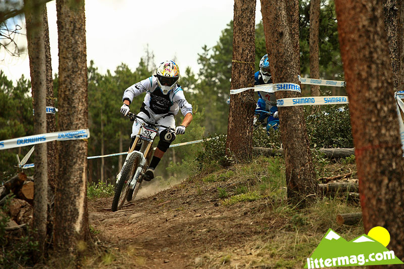 Gwin and Cody Warren in a train for the jumps - 2009 U.S. National Championships Photo Feature - Mountain Biking Pictures - Vital MTB