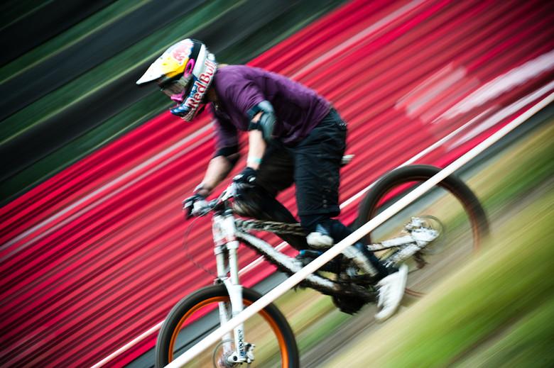 Jill Kintner racing downhill