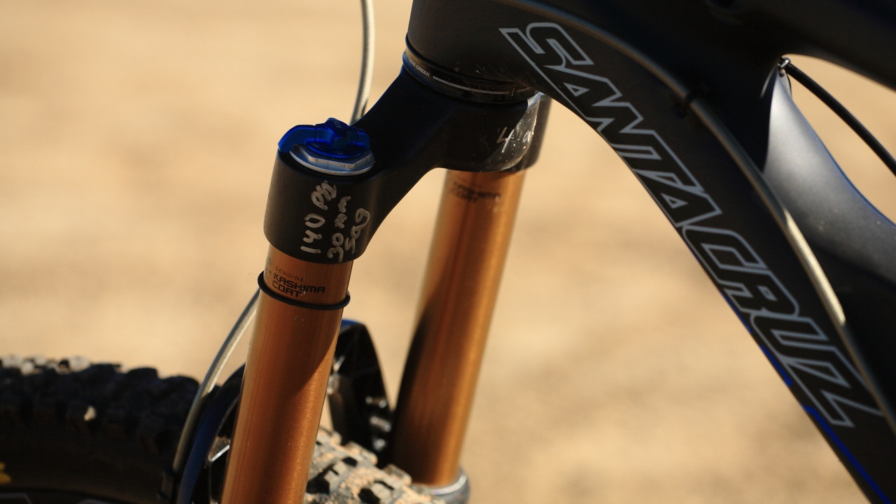 Fox Talas with Prototype Internals - Santa Cruz Nomad Carbon with Prototype Fox Suspension - Mountain Biking Pictures - Vital MTB