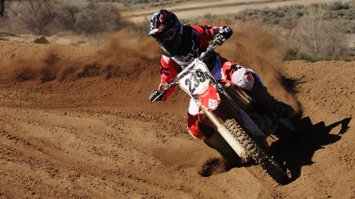 Fitzy at Vital's MTB Moto Day in 2013, throwin' some roost!