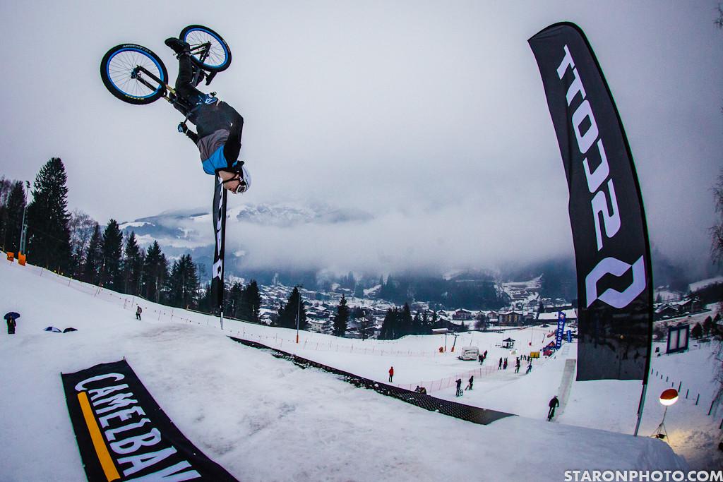 Mehdi Gani, Backflip - 2013 White Style - MTB Slopestyle on Snow - Mountain Biking Pictures - Vital MTB