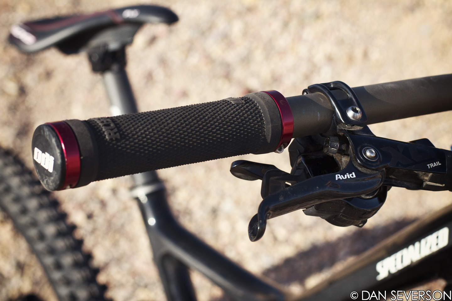 ODI Ruffian Lock-on Grips - Aaron Gwin's 2013 Specialized S-Works Demo 8 Race Bike - Mountain Biking Pictures - Vital MTB