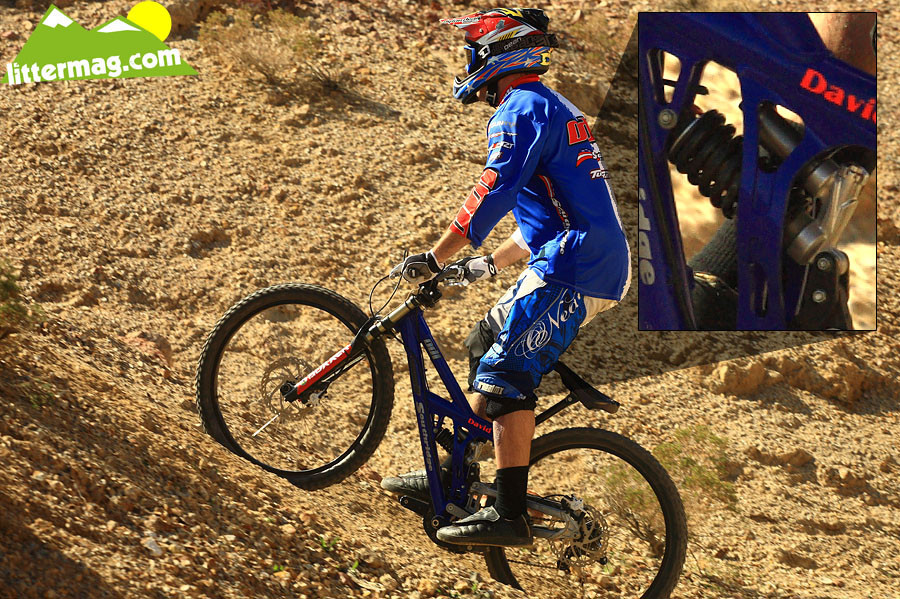 David K's Turner DHR bottom out - G-Out Project: Bootleg Canyon - Mountain Biking Pictures - Vital MTB