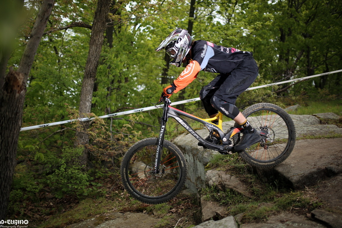 Brandon Blakely in the Woods at Mountain Creek - Spring Classic ProGRT from Mountain Creek - Mountain Biking Pictures - Vital MTB