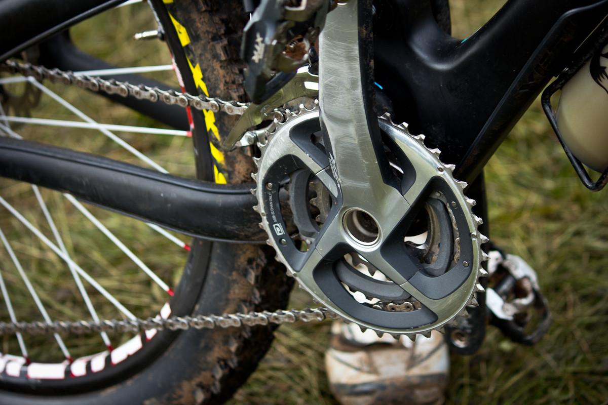 XTR Triple Ring on Mike West's Yeti SB66 Carbon  - Even More Enduro Bikes from 2013 Hood River Oregon Enduro - Mountain Biking Pictures - Vital MTB