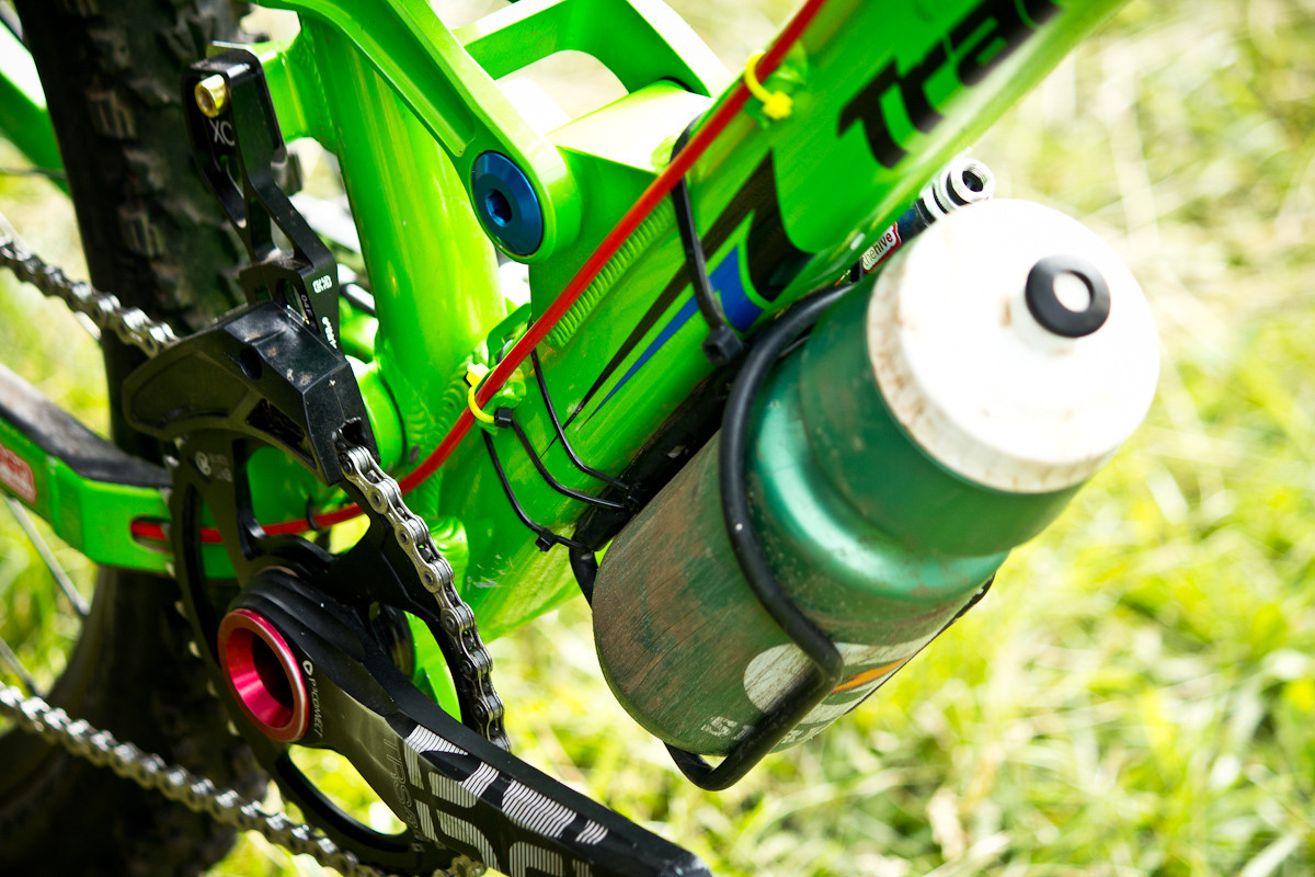 Zip-tied Water Bottle Cage on Ben Furbee's Transition Covert  - Even More Enduro Bikes from 2013 Hood River Oregon Enduro - Mountain Biking Pictures - Vital MTB