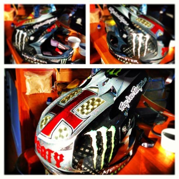 Steve Peat's Custom Troy Lee D3 Helmet for Fort William - sspomer - Mountain Biking Pictures - Vital MTB