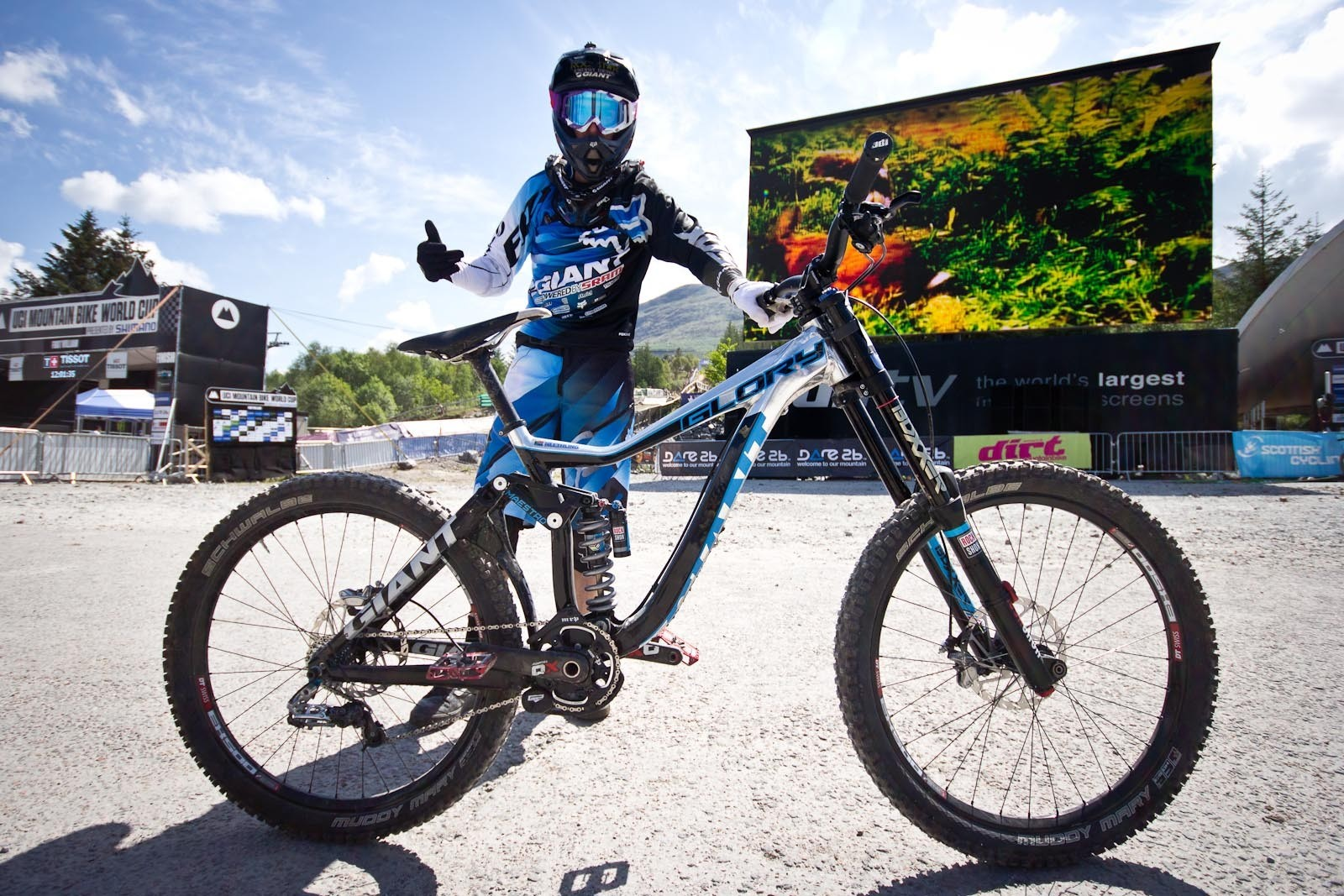Andrew Neethling's Giant Glory - 24 Pro DH BIkes from Fort William World Cup - Mountain Biking Pictures - Vital MTB