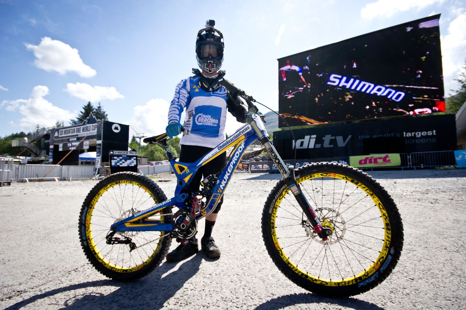 Joe Smith's Nukeproof Pulse - 24 Pro DH BIkes from Fort William World Cup - Mountain Biking Pictures - Vital MTB