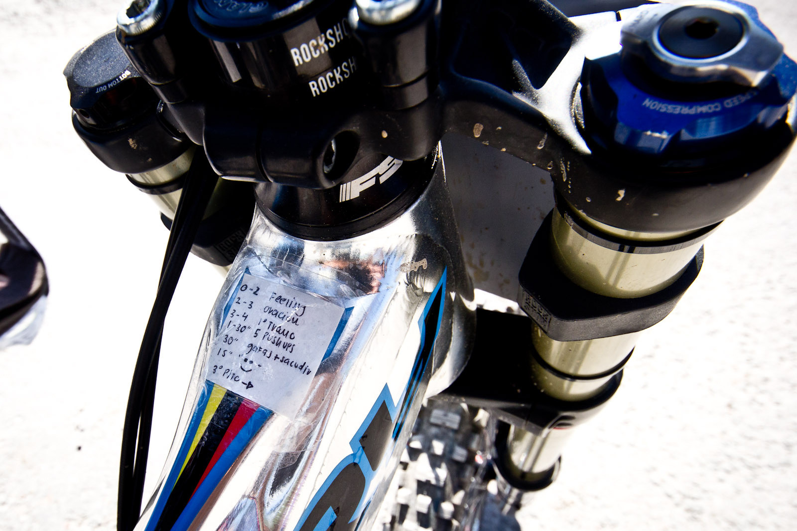 Marcelo Gutierrez's Pre Race Routine - 24 Pro DH BIkes from Fort William World Cup - Mountain Biking Pictures - Vital MTB
